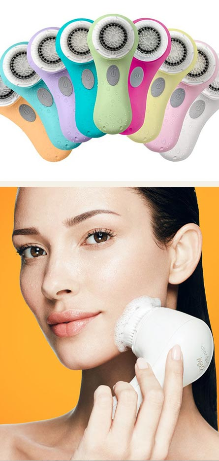 clarisonic products and woman using one